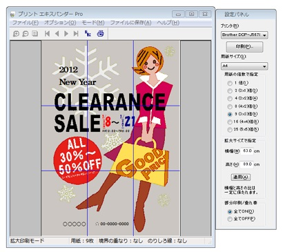 a3 2枚 ポスター印刷 pdf